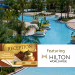 Hotel & Resort Card Featuring Hilton Worldwide- $30 buys $500 in discounts!