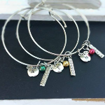 Teacher Appreciation Initial Bangle Bracelet- $9 with Free Shipping